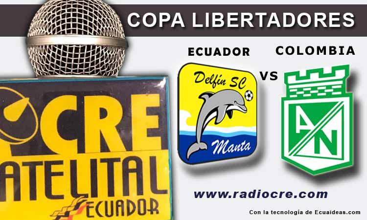 Delfín, Atlético Nacional, Copa Libertadores, Fútbol,