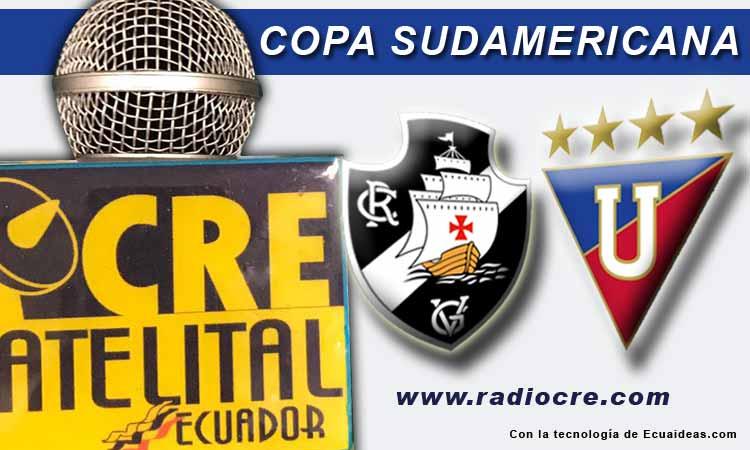 Vasco da Gama, Fútbol, Copa Sudamericana, Liga de Quito, En Vivo,