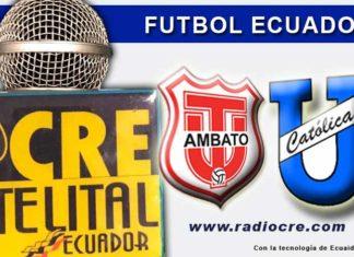 Técnico Universitario, Fútbol, Universidad Católica, Campeonato Ecuatoriano, En Vivo,